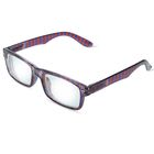 """Очки """"Прямоугольные"""" весёлые, оправа пластик, линза пластик, отгибающаяся дужка на пружинке, цвет МИКС -1"""