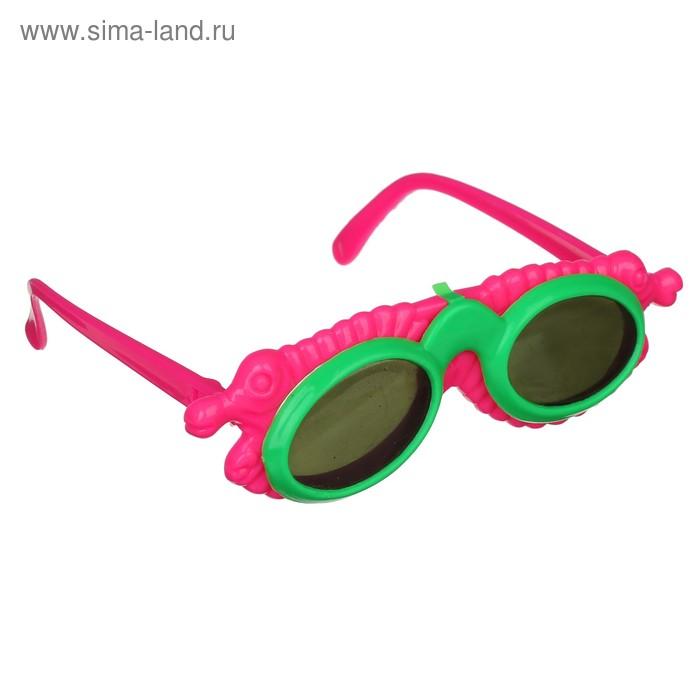Карнавальные очки детские открывашка, круглые, цвета МИКС
