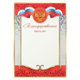 Благодарственное письмо 'Универсальное' красная, серебряная рамка Ош