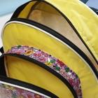 Рюкзак детский РД-6, 23*8*27, отдел на молнии, н/карман, желтый,  МИКС