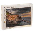 """Пазл """"Манарола, Италия. Красочный город на скале"""", 500 элементов"""
