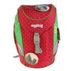 Рюкзачок детский эргономичная спинка для девочки Ergobag Mini 30*20*17 красный/зелёный ERG-MIP-001-977