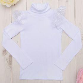 Водолазка детская KAFTAN, цвет белый, рост 110-116 (32), 5-6 лет