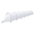 Набор для парника длиной 8 м: 9 дуг, укрывной материал 45 г/м2