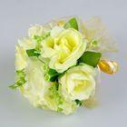 Букет-дублёр для невесты из шёлковых роз, жёлтый