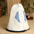 текстиль для бани и сауны с символикой Казахстана