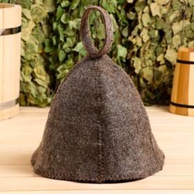 Банная шапка (колпак) тёмная, эконом
