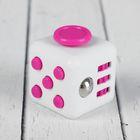 Кубик-антистресс, розовые кнопки, цвет белый