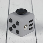 Кубик-антистресс, чёрные кнопки, цвет белый