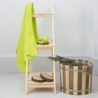 Полотенце вафельное банное 80х150 см, цвет Салатовый 100%хл, 230 гр/м2