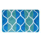 """Коврик для ванной """"Вега"""" 45х75 см, цвет голубой"""