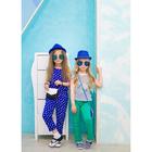 Комбинезон для девочки, рост 98-104 см, цвет синий, принт велосипед AZ-321