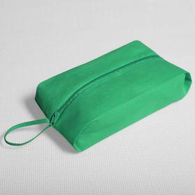 Сумка для обуви на молнии, 1 отдел, цвет зелёный Ош