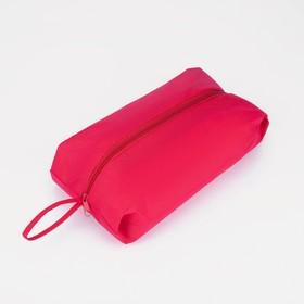 Сумка для обуви на молнии, 1 отдел, цвет красный Ош