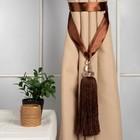 """Кисть для штор """"Камила"""", L-60(±1)см, 82, цвет коричневый"""