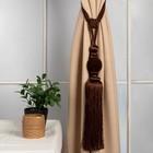 """Кисть для штор """"Есения"""", L-78(±1)см, 82, цвет коричневый"""