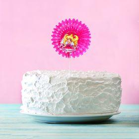 """Топпер в торт """"С Днём рождения"""", принцесса, 15 см"""