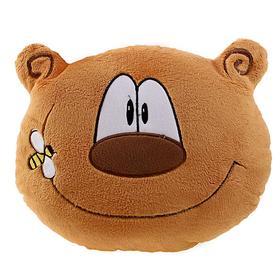 """Подушка """"Веселый медведь"""", коричневый"""