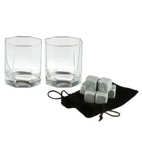 Набор для виски «На двоих» : 2 стакана, 6 камней Ош