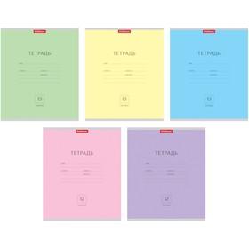 Тетрадь 12 листов линейка 'Классика', картонная обложка, микс Ош