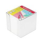 Блок бумаги для записей 9*9*9 см цветной в пластиковом боксе Белый, EK 4458