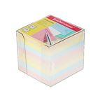 Блок бумаги для записей 9*9*9 см , в пластиковом боксе Ассорти, EK 5142