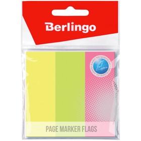 Флажки-закладки 76х25 мм, 3 неоновых цвета по 50 листов, европодвес Ош