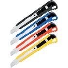 Нож канцелярский 9 мм Universal, auto-lock, металлические направляющие, европодвес