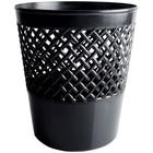 Корзина для бумаг 12 литров, сетчатая, чёрная