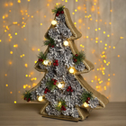 """Фигура дерев """"Елка шишки"""" 37х5х45 см (3xAA не в компл.) 8 LED, ТЕПЛО-БЕЛЫЙ"""