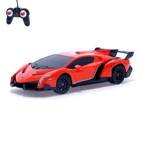 """Машина радиоуправляемая """"Lamborghini Veneno"""", масштаб 1:24, работает от батареек, свет, МИКС, mz 27043"""