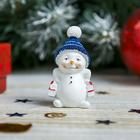 """Сувенир полистоун """"Снеговик с покупками"""" 5х3х2 см"""