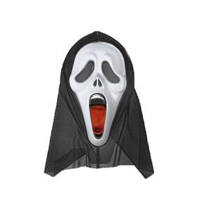 """Карнавальная маска """"Крик"""" с языком"""