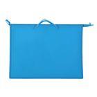 Папка А3 с ручками пластиковая молния сверху 420х343х50 мм ПР 3 «Ярко-голубой»