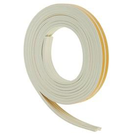 Уплотнитель резиновый самоклеящийся UNIBOB, профиль E, в катушке 6 м, белый Ош