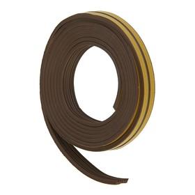 Уплотнитель резиновый самоклеящийся UNIBOB, профиль E, в катушке 6 м, коричневый Ош
