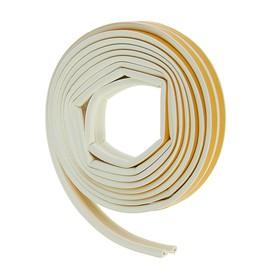 Уплотнитель резиновый самоклеящийся UNIBOB, профиль P, в катушке 6 м, белый Ош
