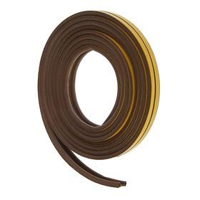 Уплотнитель резиновый самоклеящийся UNIBOB, профиль P, в катушке 6 м, коричневый Ош