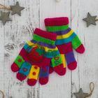 """Перчатки для девочки """"Клубника"""", размер 17, цвет розовый"""
