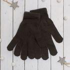 """Перчатки молодёжные """"Однотонные"""", размер 9.5, цвет серый"""