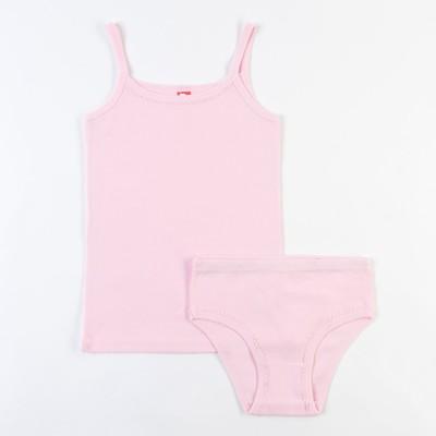 Комплект для девочки (майка, трусы), рост 134 см, цвет светло-розовый