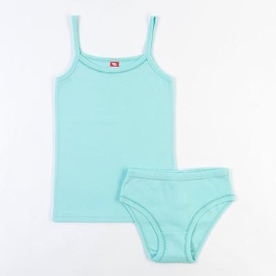 Комплект для девочки (майка, трусы), рост 134 см, цвет светло-бирюзовый CAJ 3342