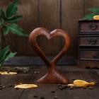"""Сувенир дерево """"Сердце"""" 15х11х3 см коричневый"""