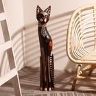 """Сувенир дерево """"Кошка в галстуке из мозаики"""" 80х13х7 см"""