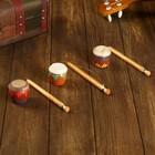 Музыкальный инструмент Трещотка-барабан роспись 17х4,5х4,5 см