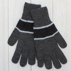 Перчатки мужские «А» 3с239, размер 22, цвет серый/чёрный/голубой