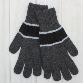 Перчатки мужские «А» 3с239, размер 22, цвет серый/чёрный/голубой Ош
