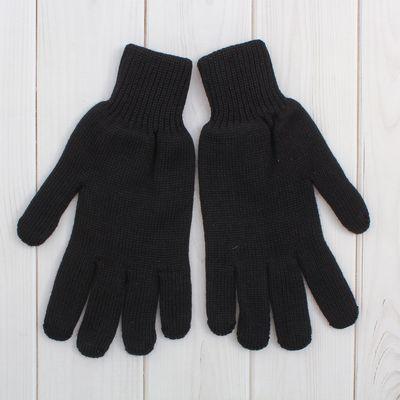 Перчатки мужские 9с50, размер 22, цвет чёрный