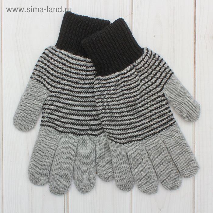 Перчатки мужские «Анжу» 2с239, размер 22, цвет меланж/чёрный