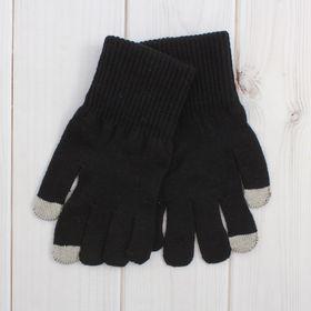 Перчатки мужские для сенсорных экранов 6с177/1, размер 22, цвет чёрный Ош